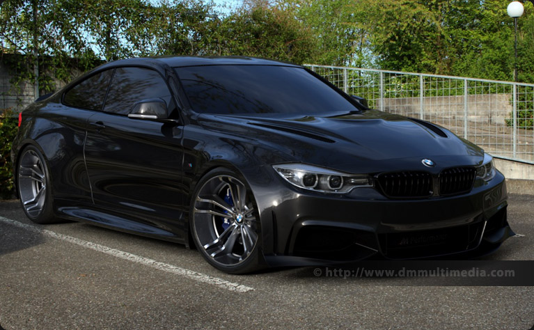 BMW F32 4 Series Coupe Wide Body in Gloss Black