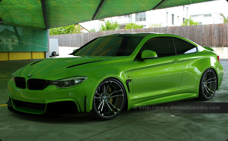 BMW F32 4 Series Coupe Wide Body in Java Green