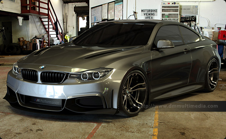 BMW F32 4 Series Coupe Wide Body in Mineral Grey at the Garage