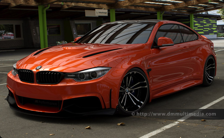 BMW F32 4 Series Coupe Wide Body, at the top of a Swiss hill