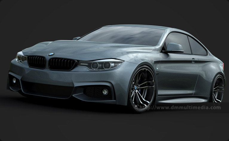BMW F32 4 Series Coupe Wide Body - early prototype render