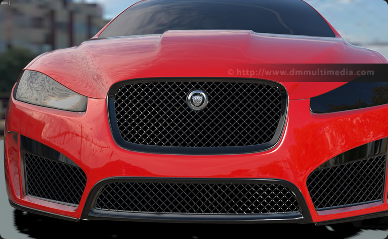 Creating the front bumper, grills and leaper badge on the Jaguar