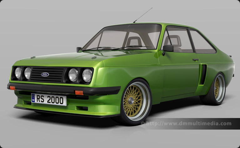 Escort MK2 RS2000 with legendary X-Pack kit, in Java Green