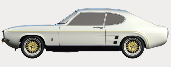 Capri RS3100 - Side Profile White