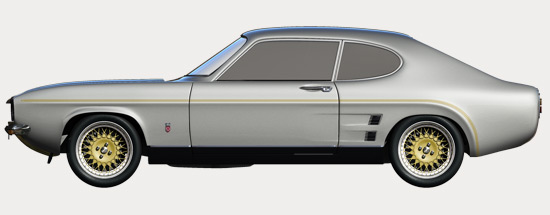 Capri RS3100 - Side Profile Silver