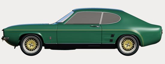 Capri RS3100 - Side Profile Green