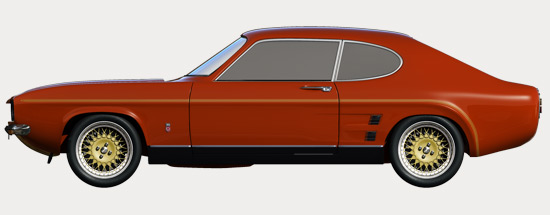 Capri RS3100 - Side Profile Red
