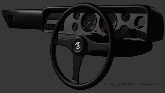 Capri steering wheel and interior
