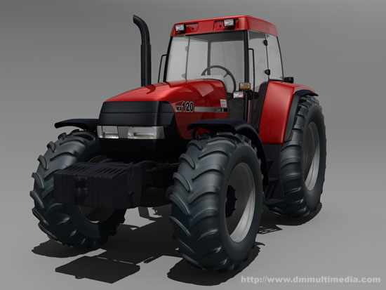 Case MX120 Maxxum Tractor - front view