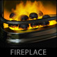 3DS Max fireplace model
