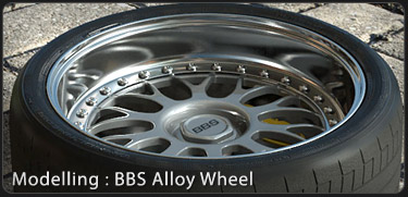 BBS Alloy Wheel 3DS Max Tutorial