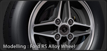 Ford RS Alloy Wheel 3DS Max Tutorial