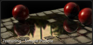 Simple puddletextures 3DS Max Tutorial