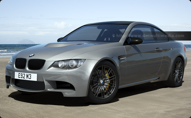 "BMW E92 M3 with 18"" Alloys and custom spoiler and sills"