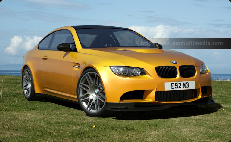 BMW E92 M3 at the glof course