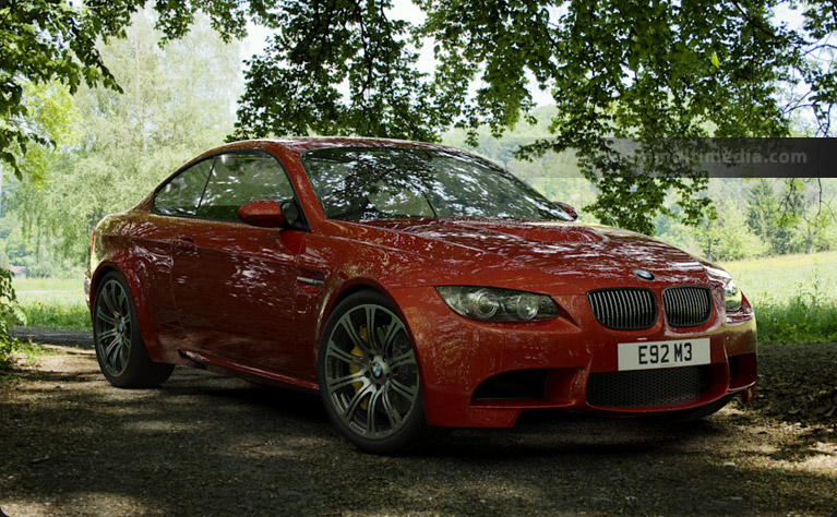 BMW E92 M3 in the woods