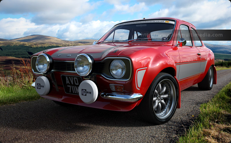 Escort MK1 RS2000 Bright Red in the Carrick Forest