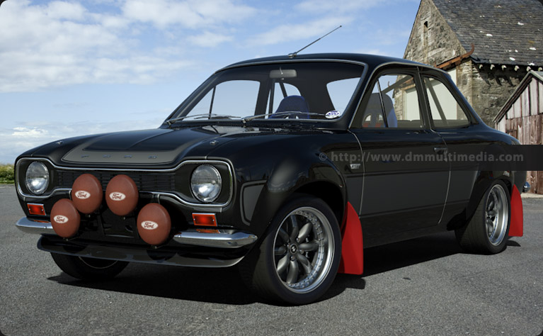 Escort MK1 Big Wing in Solid Black with Graphite Grey Stripes