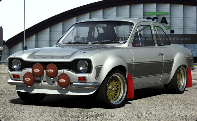 "Escort MK1 RS2000 in Diamond White with Light Grey Stripes and 10"" BBS Split Rims"