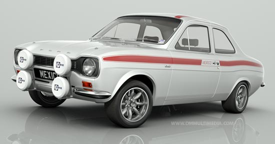 MK1 Escort RS Mexico in White with Red Stripes