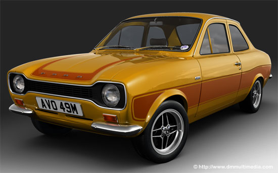Escort MK1 RS2000 with non-standard signal orange with contrasting ...