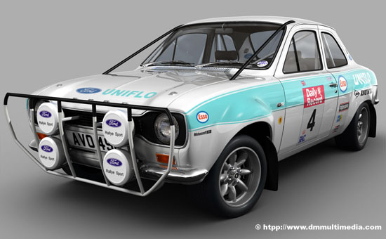 Esso Blue test colour for works Escort MK1