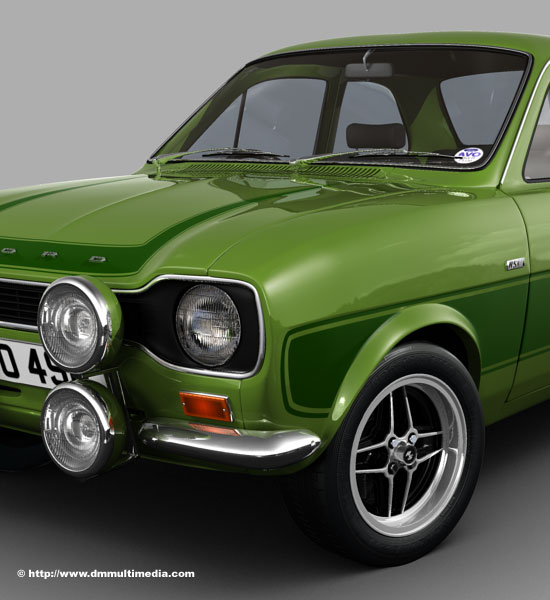 Close up of MK1 Escort RS2000