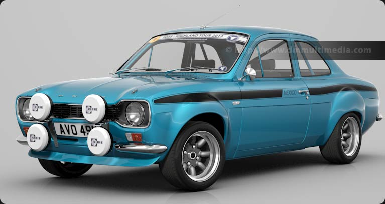 Escort MK1 Bigwing in Blue, with Black Mexico stripes