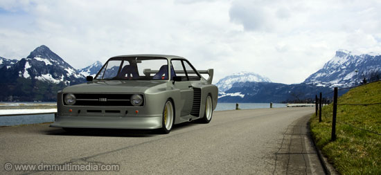 Escort MK2 Group 5 racer in the Swiss Lakes