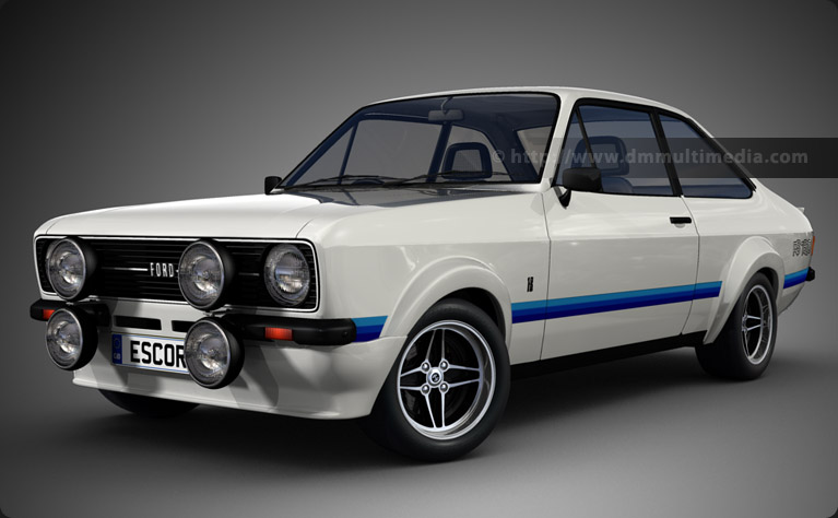Escort MK2 RS1800 with Forest Arches in White with Motorsport Blue flashes
