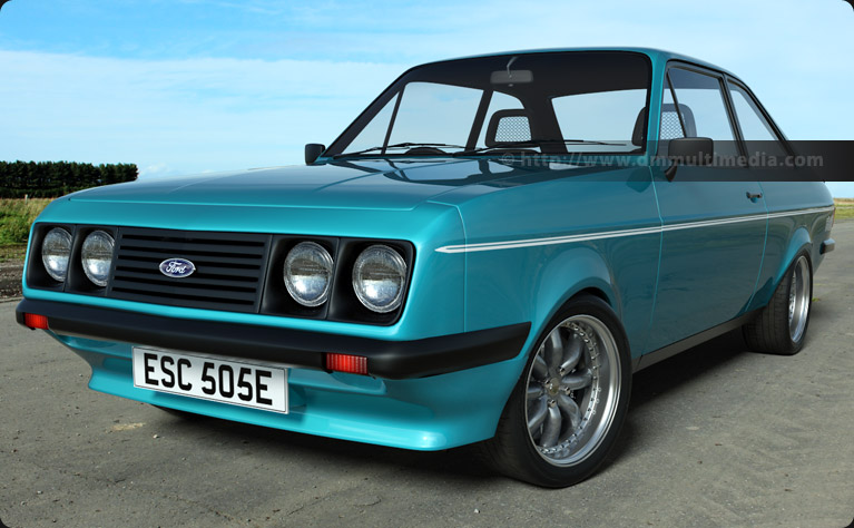 Escort MK2 RS2000 in Light Blue