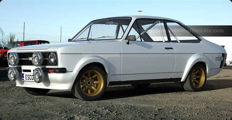 "Escort MK2 RS Mexico, 7"" Gold Minilites"