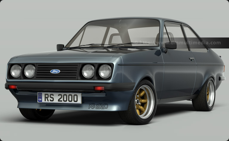 Escort MK2 RS2000 in Moonstone Blue