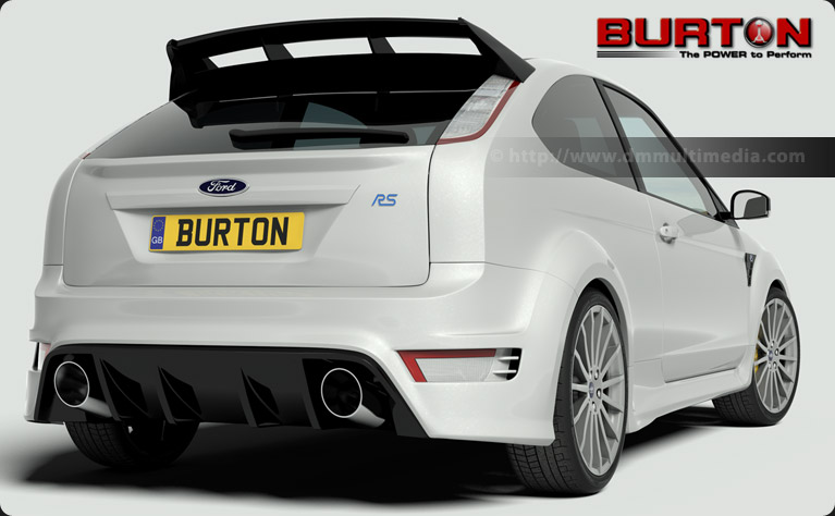 Ford Focus MK2 RS rear view - used by Burton Power