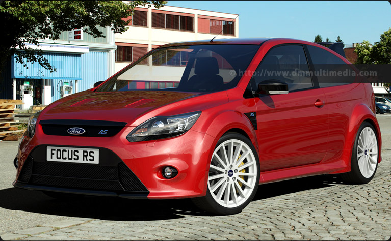 Ford Focus MK2 in red with white Alloys