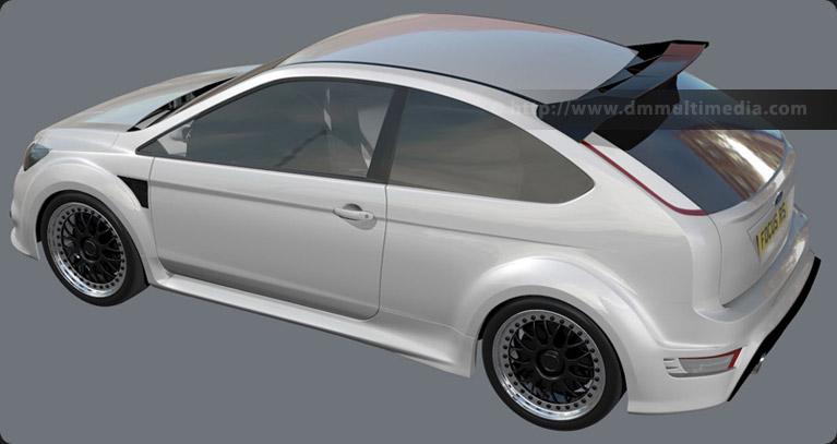 d m multimedia 3d cars ford focus rs mk2 focus rs. Black Bedroom Furniture Sets. Home Design Ideas