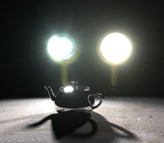 Mental Ray Glare Light Shader