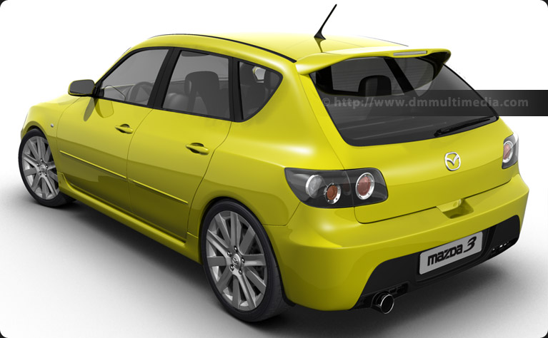 Mazdaspeed 3 in yellow