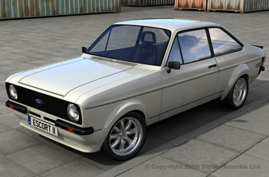 White MK2 Escort RS - Forest Arches