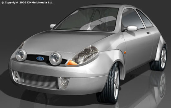 Older Render Of The Ford Sport Ka Model In Silver Xenon Headlights