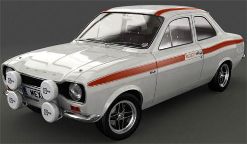 Mark 1 Ford Escort Mexico. Diamond White MK1 Mexico