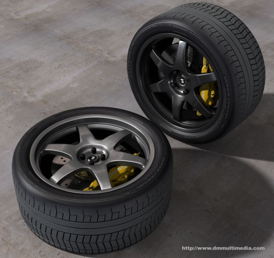 Contemporary style alloy wheel