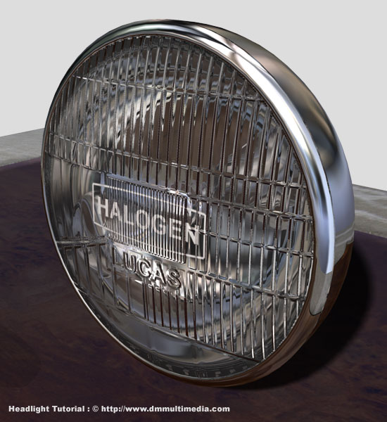 Headlight Textured In 3Ds Max