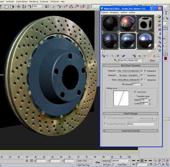 Blend Material for Brake Disc Texture