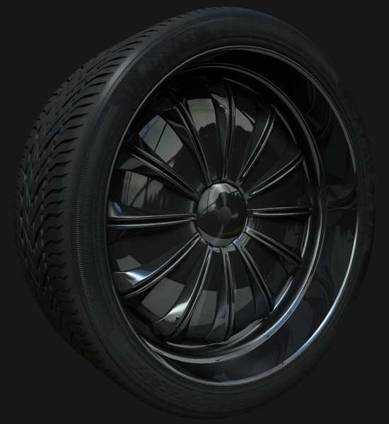 Final Tyre Texture Mental Ray
