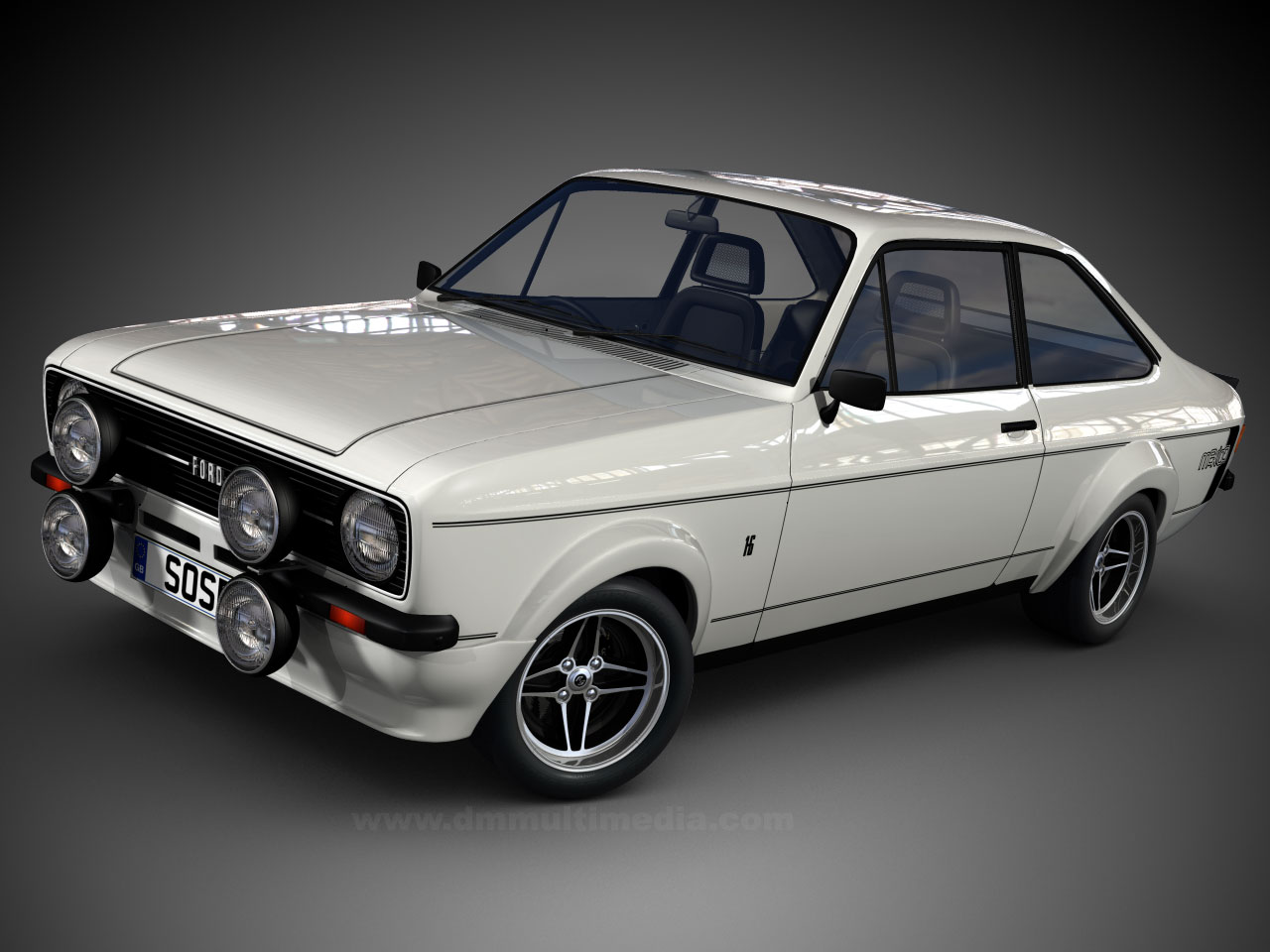 Gloss White Arched Escort